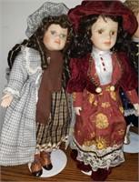 3 Dolls w/ Stands