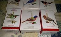 6 Hallmark Keepsake Bird Ornaments