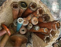 Basket of Old Spools