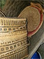 Vintage Baskets & Lamps