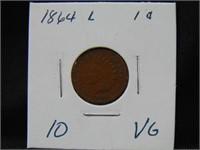 1864L Indian Head Penny