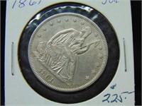 1861 Seated Half Dollar
