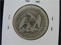 1855O Seated Half Dollar