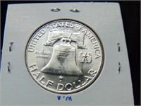 1958D Franklin Half Dollar