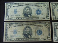 1934 $5 Silver Certificates