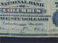 1902 $20 National Currency