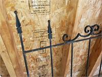 3 ft. Black Iron Fence Section