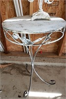 Candle Holder & Metal Table