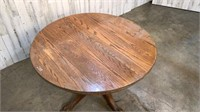 Oak Claw Foot Round Table w/ 2 Leaves-