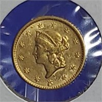 1852 Gold Liberty Head Dollar Type 1