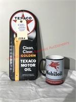 Mobil Mug & Texaco Thermometer