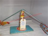 Vintage Unique Tin Art Sky Ranger Toy