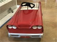 Restored Red Pedal Car- Vintage