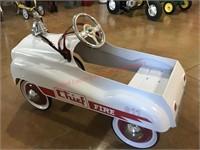 Fire Chief Pedal Car- White