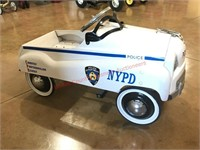 NYPD Police Pedal Car- White