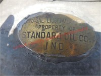 Vintage Standard Oil Can w/Brass Tag