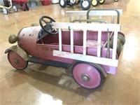 Fire Truck Pedal Car- w/ladders