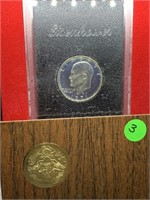 1971 IKE SILVER BROWN BOX PROOF DOLLAR