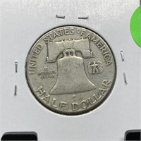 1948 FRANKLIN SILVER HALF DOLLAR