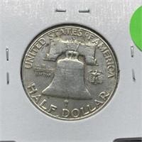 1953-D FRANKLIN SILVER HALF DOLLAR