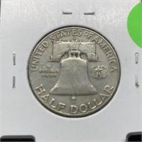 1951-D FRANKLIN SILVER HALF DOLLAR
