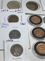 LARGE LOT OF MISC WHEAT PENNIES/ V NICKELS MORE