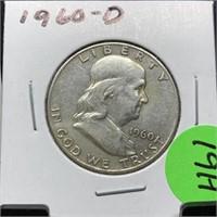 1960-D FRANKLIN SILVER HALF DOLLAR
