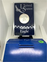 2001 SILVER EAGLE .999 BULLION DOLLAR COIN