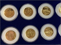 LOT OF GOLD PLATED STATE QUARTERS