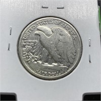 1935 WALKING LIBERTY SILVER HALF DOLLAR