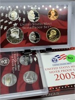2005 SILVER US MINT PROOF COIN SET