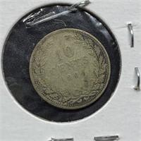 1904 NETHERLANDS SILVER DIME