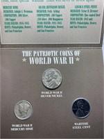 PATRIOTIC COINS OF WWII SILVER WAR NICKEL/ MERCURY