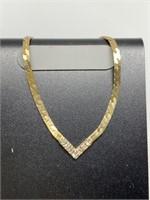 14K GOLD AND DIAMOND BRACELET 3.3G