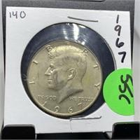 1967 JFK SILVER HALF DOLLAR