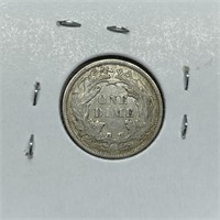 1876 SEATED LIBERTY SILVER DIME