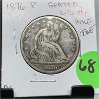 1876 SEATED LIBERTY HALF DOLLAR