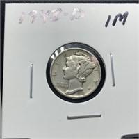 1943-D MERCURY SILVER DIME