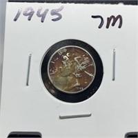 1945 MERCURY SILVER DIME