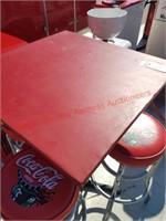 Coca-Cola Table & 4 Stools