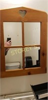 Wood Bathroom Wall Mirror - 24 x 36