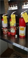 3 Small Fire Extinguishers