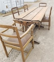Vintage Wood Table and Chairs- Needs TLC