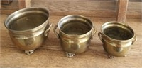 3 Metal Decorative Containers
