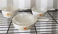 Ceramic Dish Set with Lids