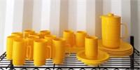 Yellow Dishware Set