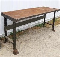 Metal Frame Work Table