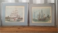 2 Signed Boat Pictures