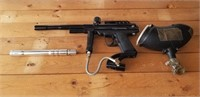 Piranha Paintball Gun, Hopper, and Barrel
