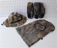 Camo Hat, Mask, Paintball Storage